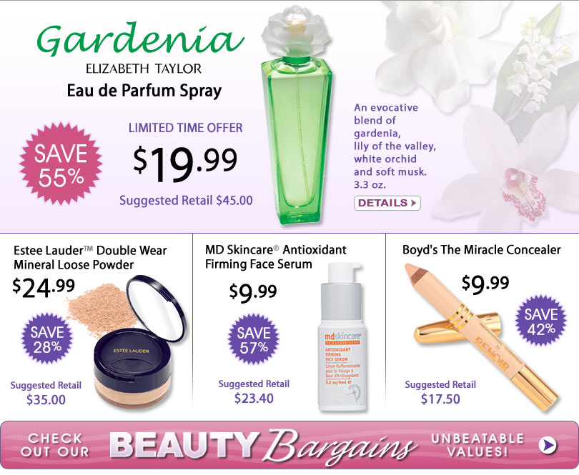 Save up to 90% on Name Brand Perfumes and Cosmetics