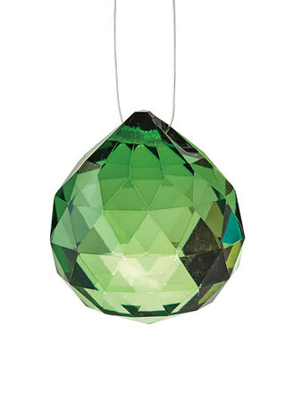 Main Wealth Diamond-Cut Hanging Crystal