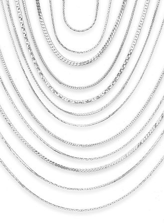 Main Sterling Silver Plated Necklace Set