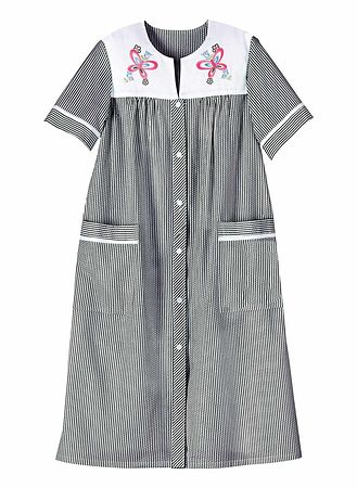 Main Embroidered Stripe Duster Robe