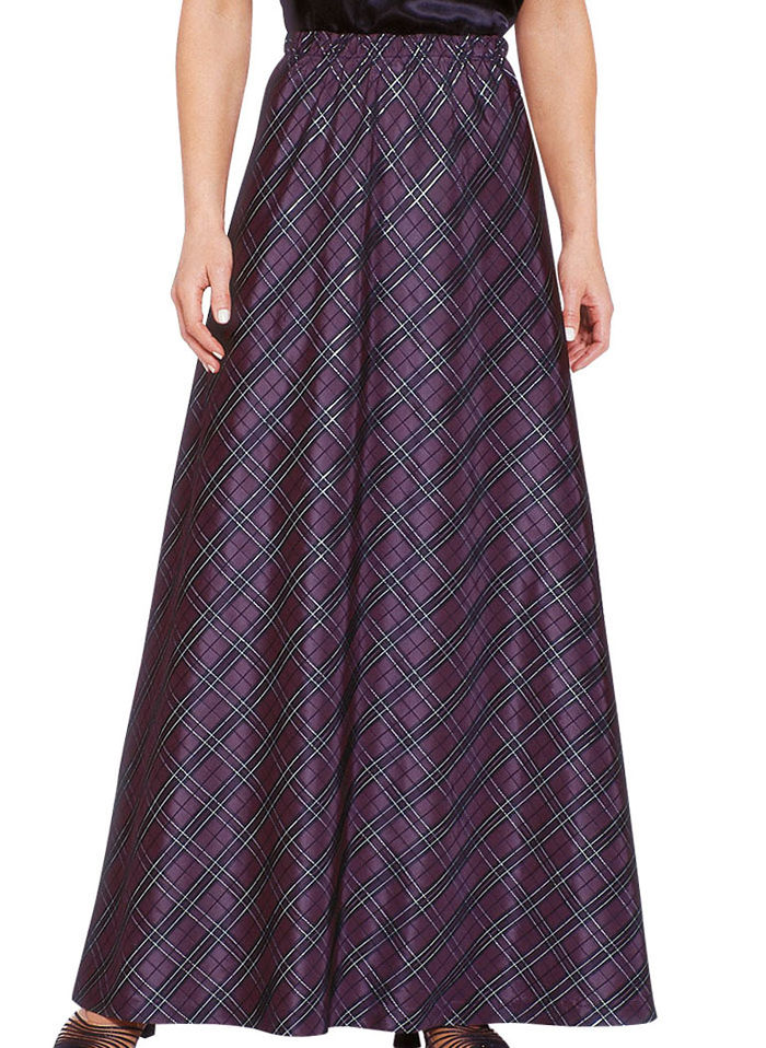Plaid Taffeta Skirt