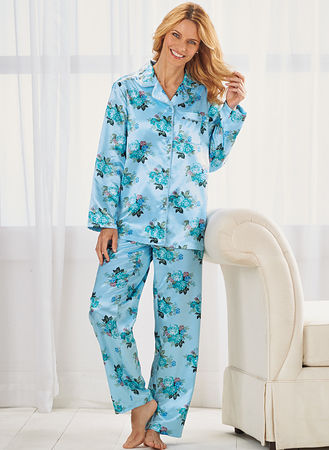 Main Brushed-Back Satin Pajamas ... b6bca1372