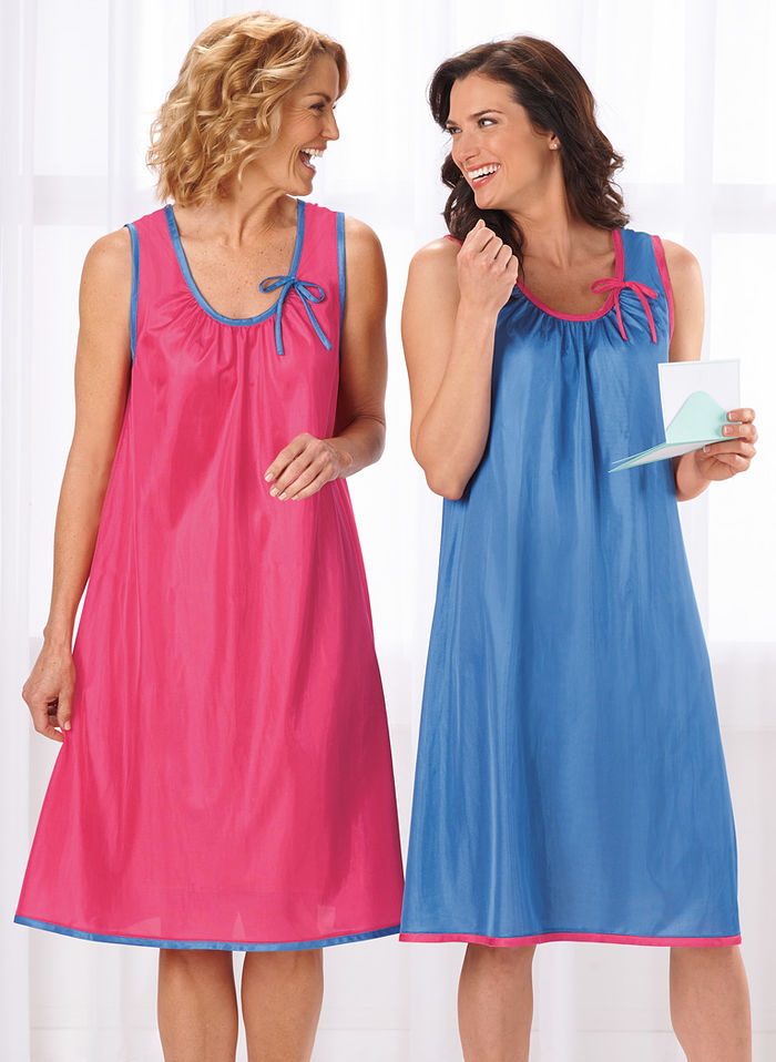 Sleeveless Nightgown Two-Pack