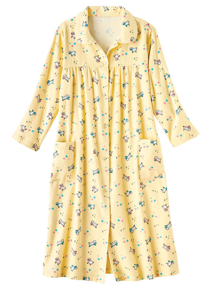 Cotton Flannel Duster Robe
