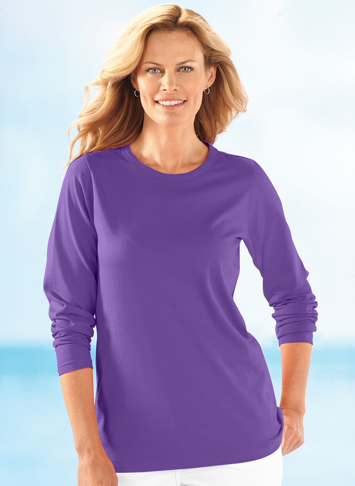 Long-Sleeve Cotton Tee