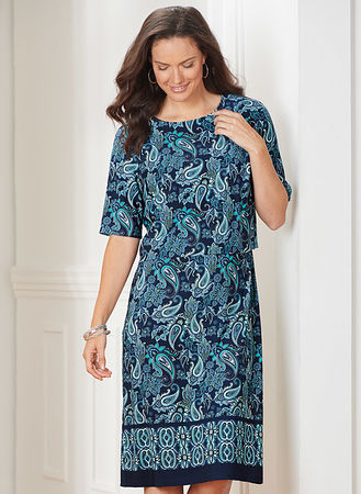 Main Popover Border-Print Dress