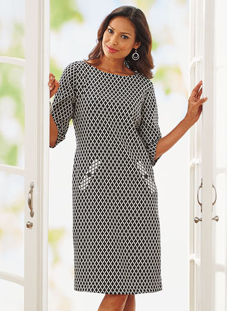 Main Diamond Patterned Dress