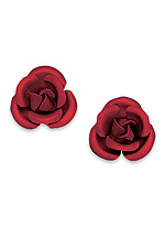 Product Review Red Rose Earrings