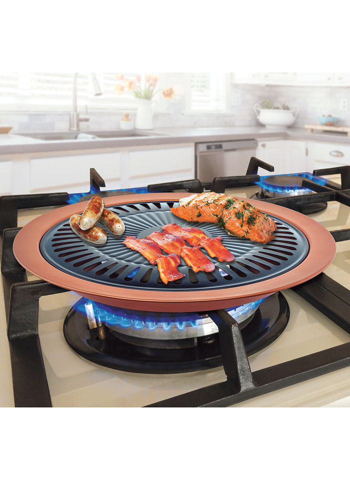 Nonstick Copper Indoor Smokeless Stovetop Grill