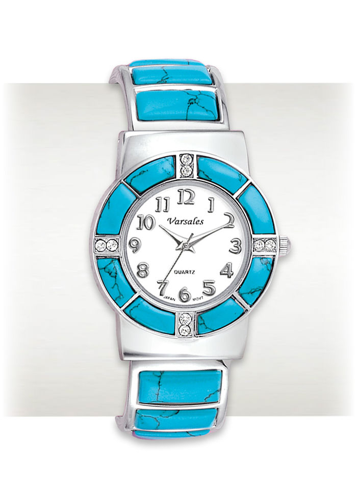 Genuine Turquoise Cuff Watch